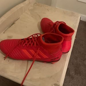 Adidas red soccer cleats